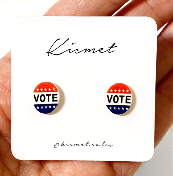 VOTE STUD EARRINGS
