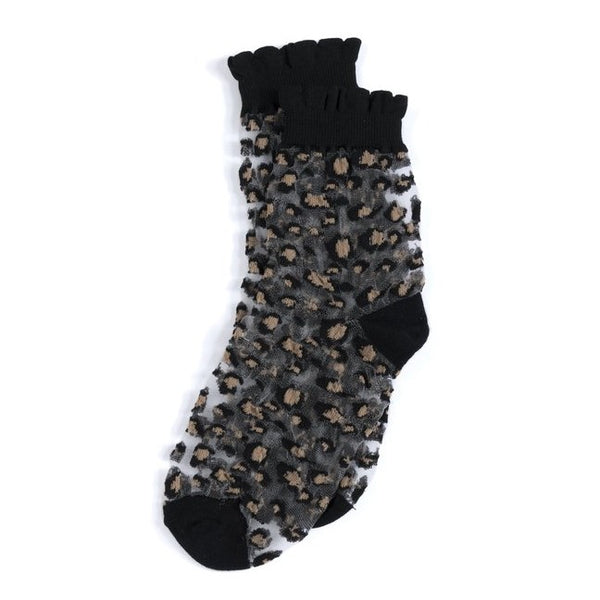 LEOPARD FANCY SOCKS - Royal Birkdale Boutique
