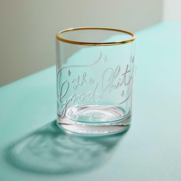 THE GOOD SH*T - LOWBALL GLASS - Royal Birkdale Boutique
