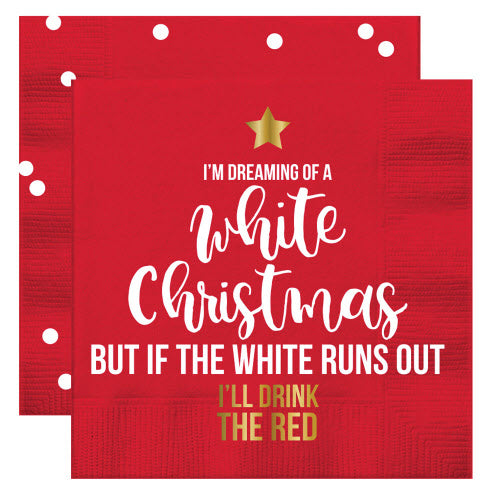 DREAMING OF WHITE CHRISTMAS - NAPKINS - Royal Birkdale Boutique