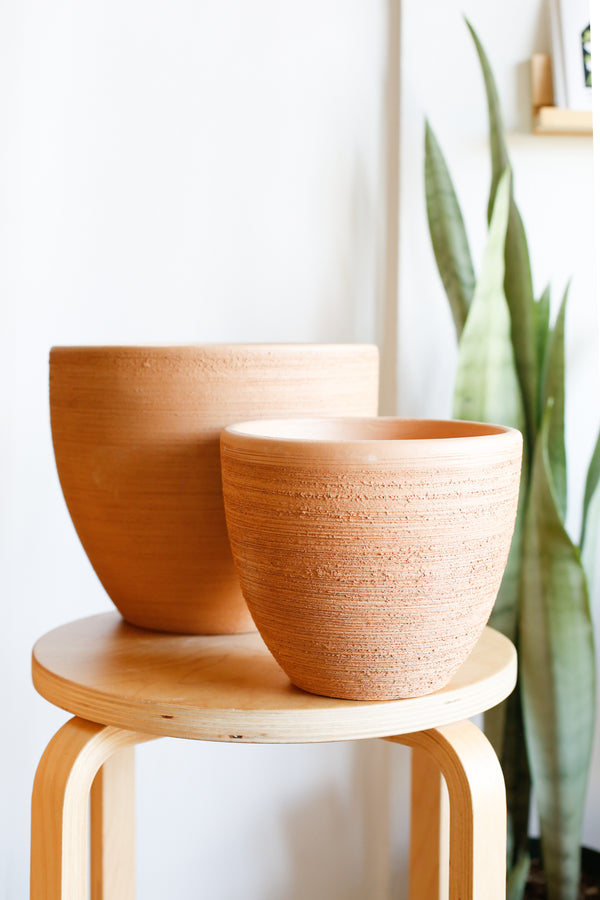 Classic Bell Planter- Brushed Terracotta