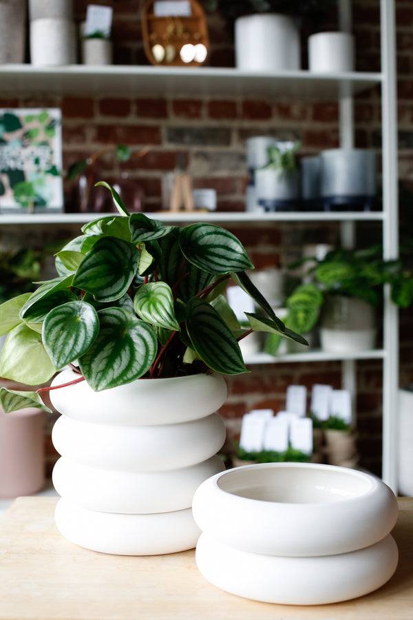 White Stacking Planter