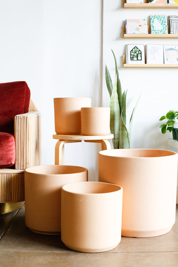 Classic Cylinder Planter- Terracotta
