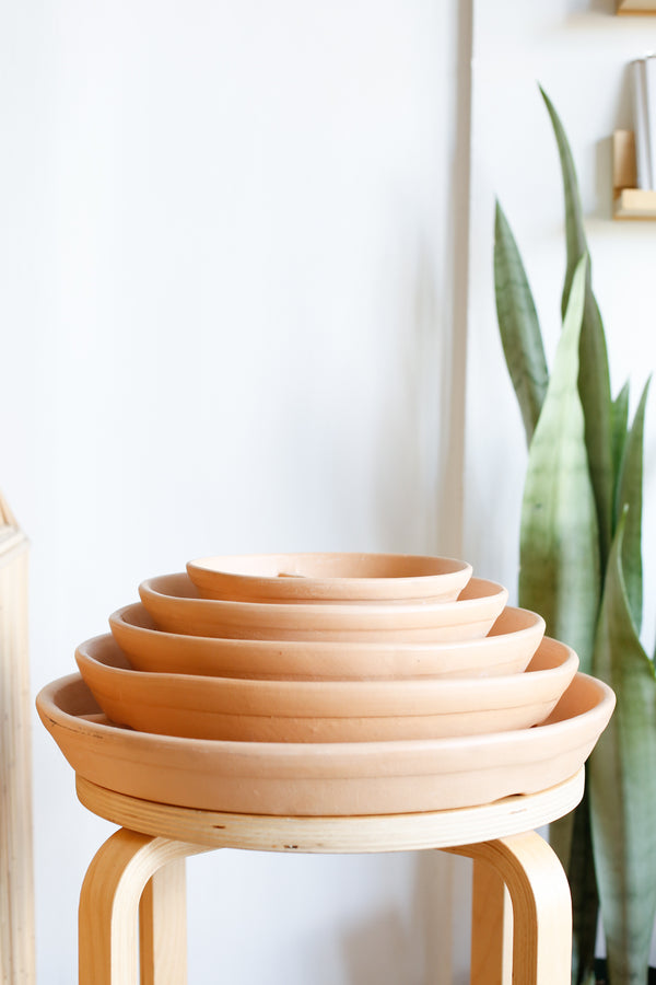 Saucer For Classic Cylinder Planter- Terracotta