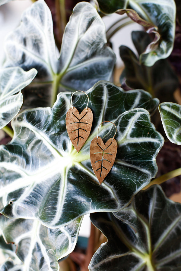 Alocasia Cut-Out Earrings