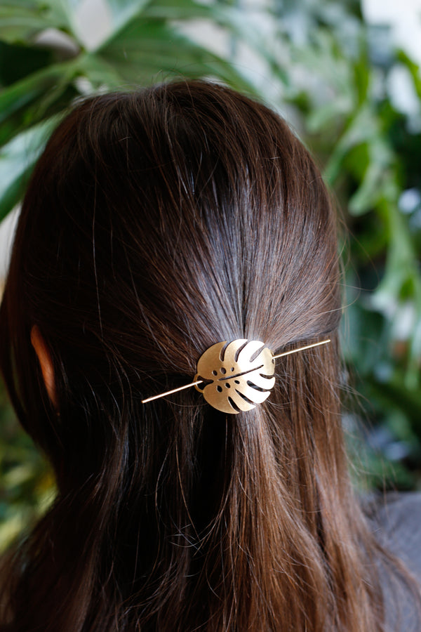Monstera Hair Pin
