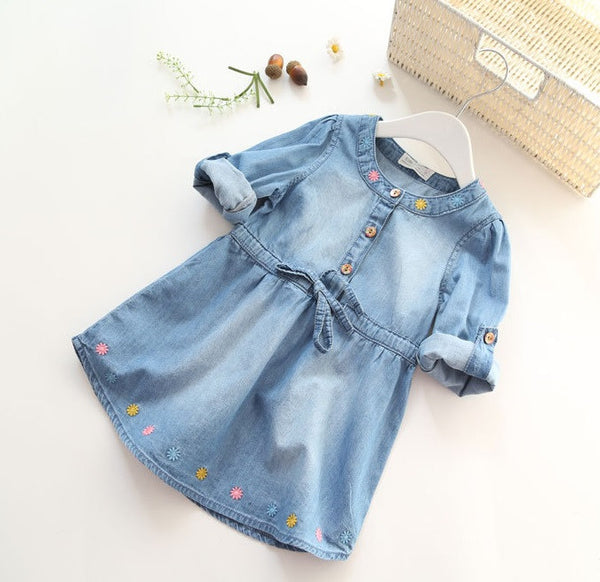 Girls Blue Jean Dress