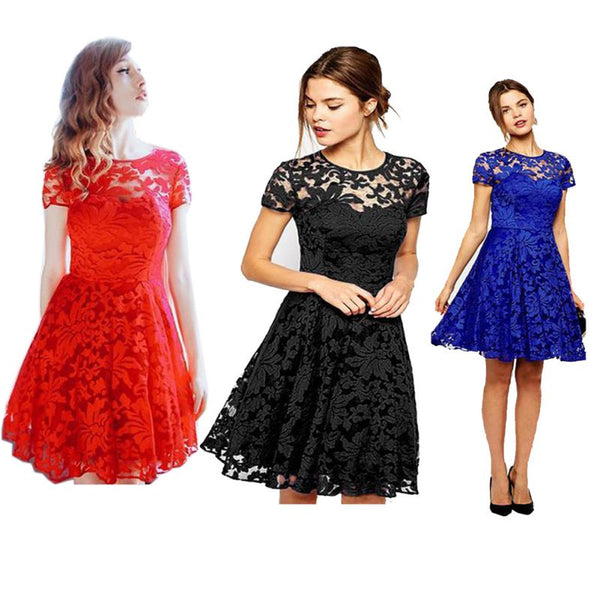 Cute Lace Dresses (Multiple Colors)