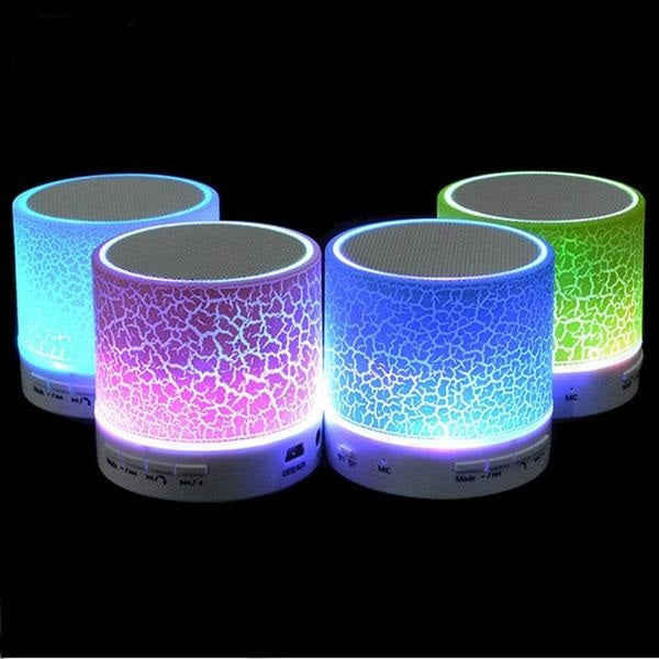 LED Mini Wireless Bluetooth Speaker USB FM Portable Music Loudspeakers Hand-free
