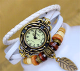 Women's Leather Bracelet Wrist Watch Clock (8 Different Colors)