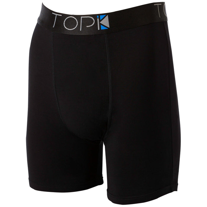 Black TOPIK boxer briefs with black waistband.