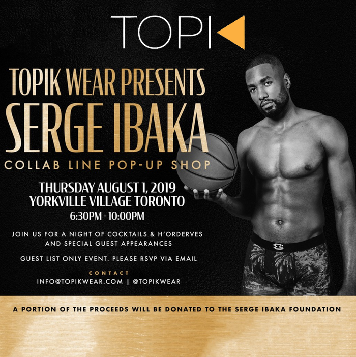 TOPIK AND SERGE IBAKA POP UP CHARITY EVENT