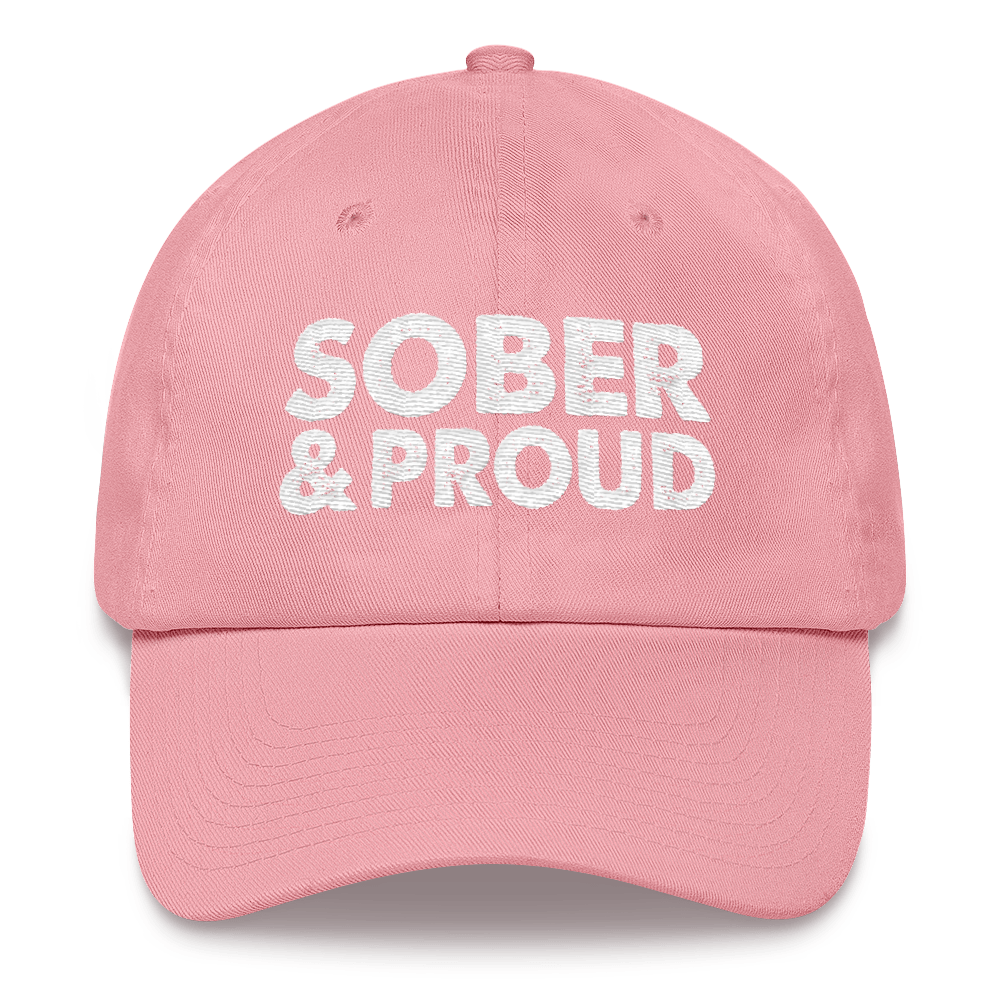 Sober & Proud Hat - Pink