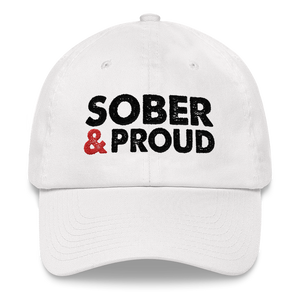Sober & Proud Hat - White