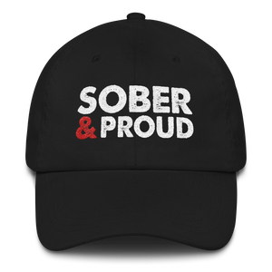 Sober & Proud Hat - Black