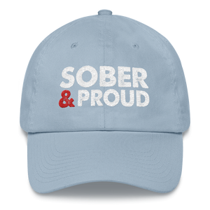 Sober & Proud Hat - Light Blue