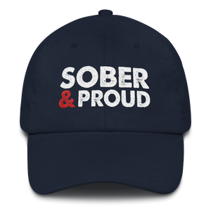 Sober & Proud Hat - Navy
