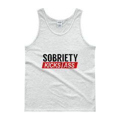 Sobriety Kicks Ass Men's Tank Top