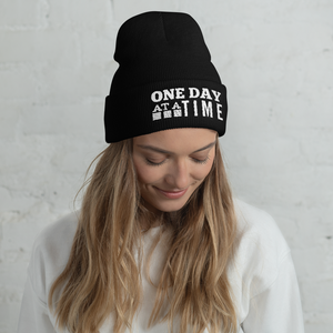 One Day at a Time Cuffed Beanie