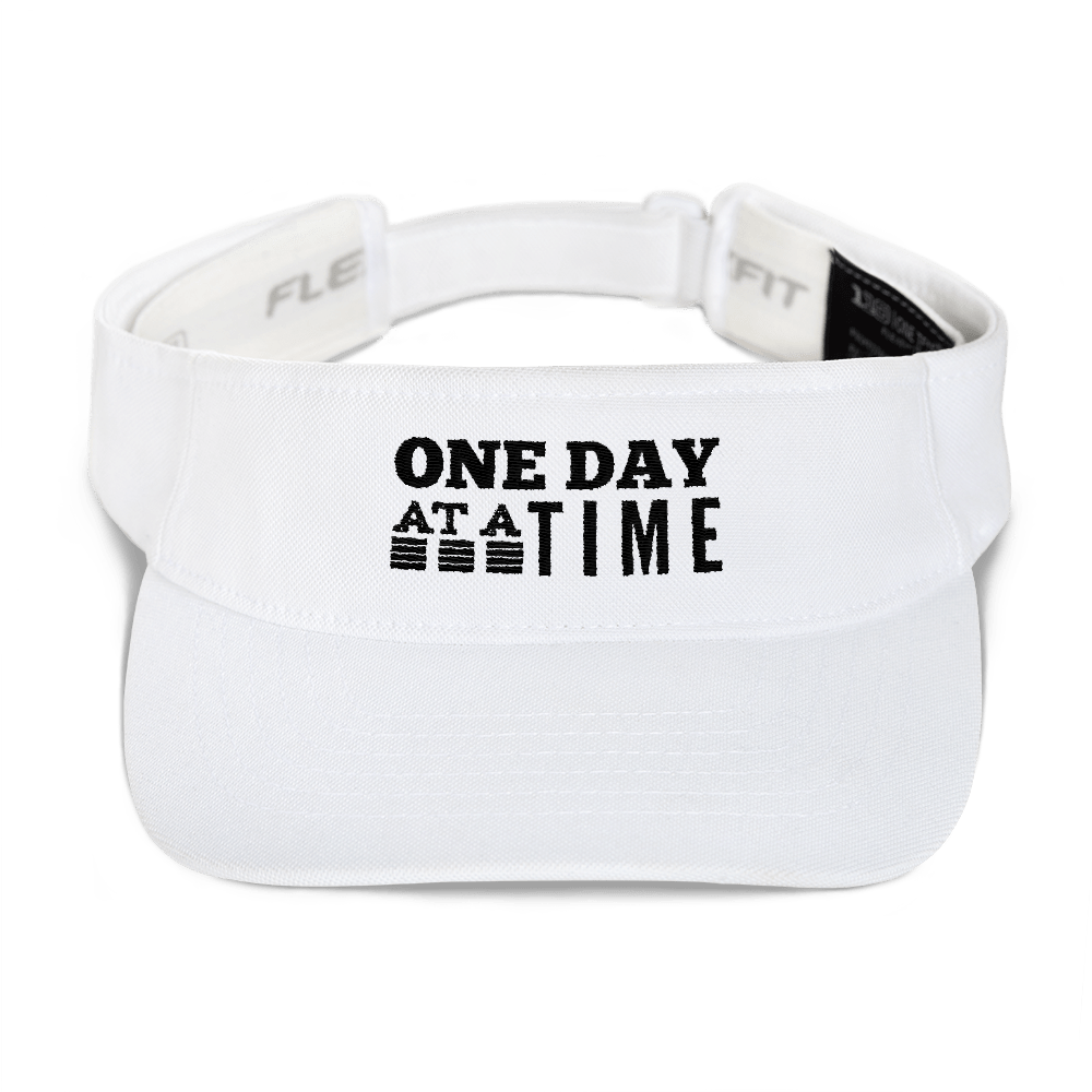 One Day at a Time Visor - White
