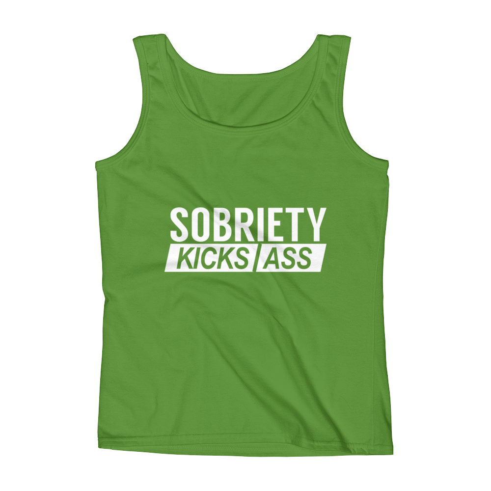 Sobriety Kicks Ass Women's Tank Top