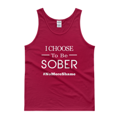 I Choose To Be Sober #NoMoreShame Men's Tank Top