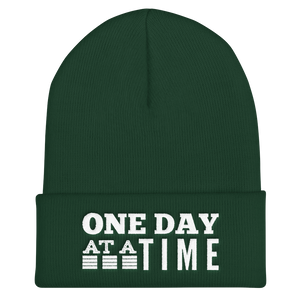 One Day at a Time Cuffed Beanie - Spruce