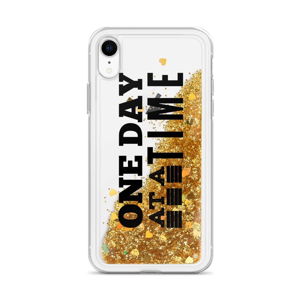 One Day at a Time - Liquid Glitter Phone Case
