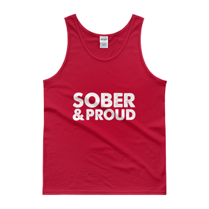Sober & Proud Men's Tank Top