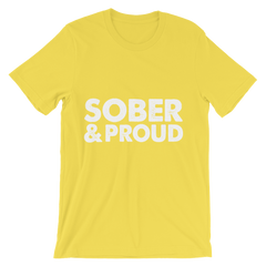 Sober & Proud Men's T-Shirt