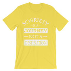 Sobriety is a Journey not a Destination Men's T-Shirt