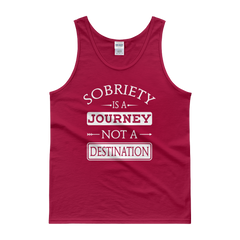 Sobriety Is A Journey Not A Destination Men's Tank Top