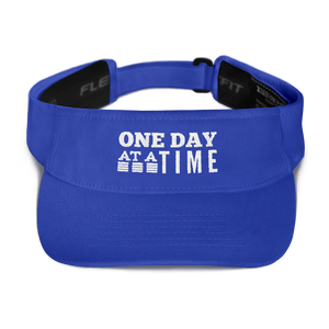 One Day at a Time Visor - Royal Blue