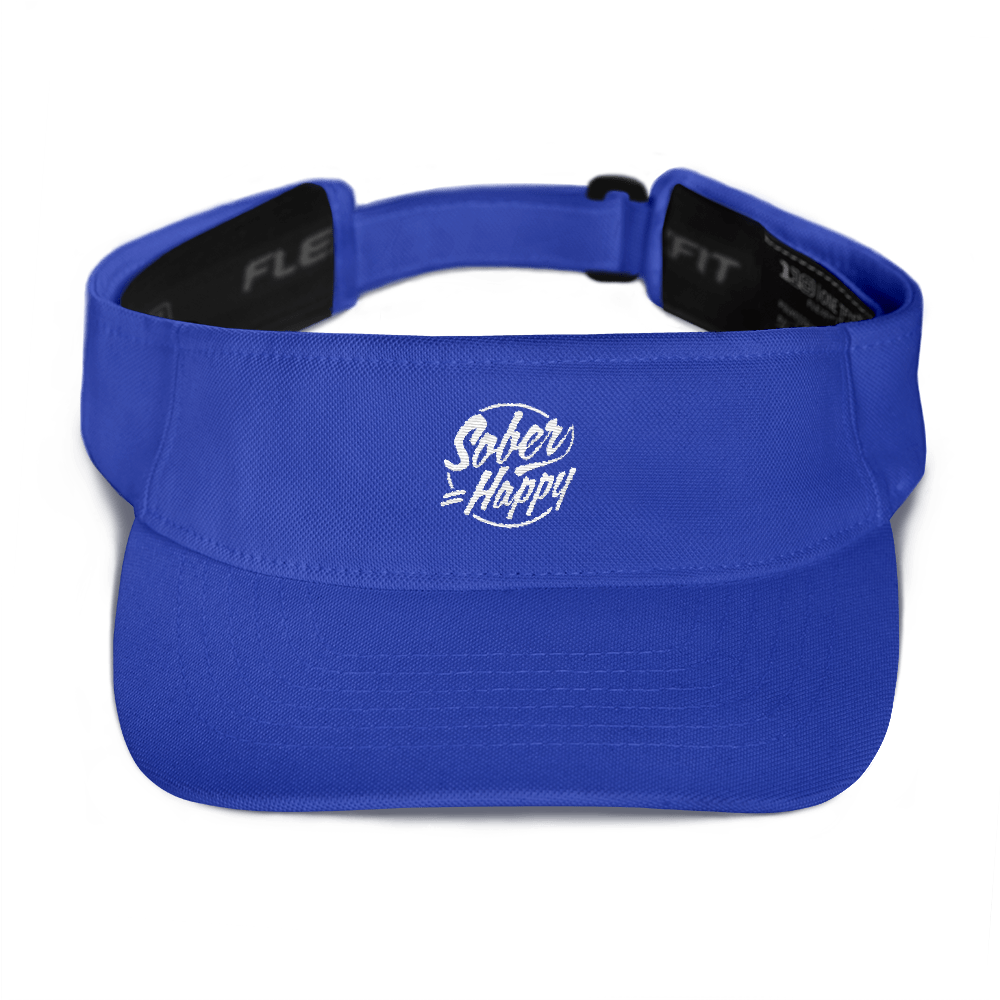 Sober Equals Happy Visor - Royal Blue