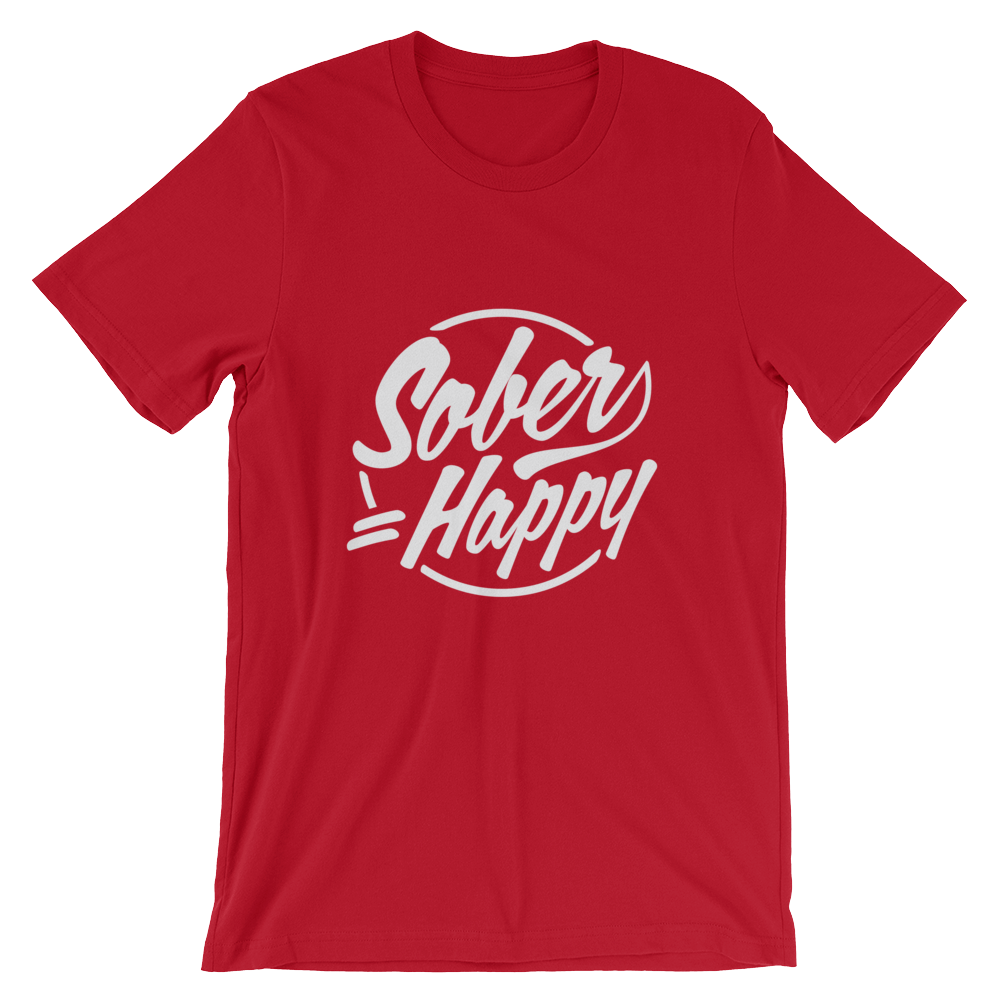 Sober = Happy Men's T-Shirt