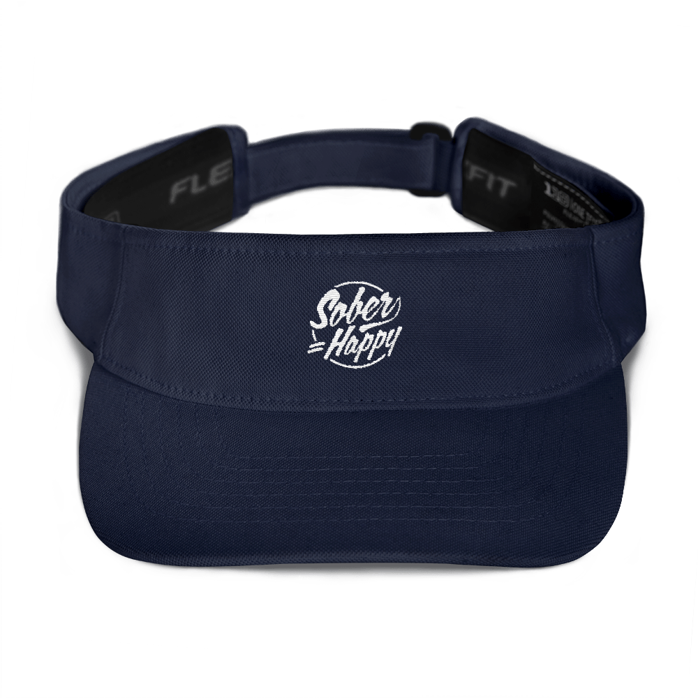 Sober Equals Happy Visor - Navy