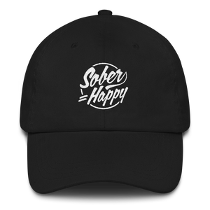 Sober Equals Happy Hat - Black