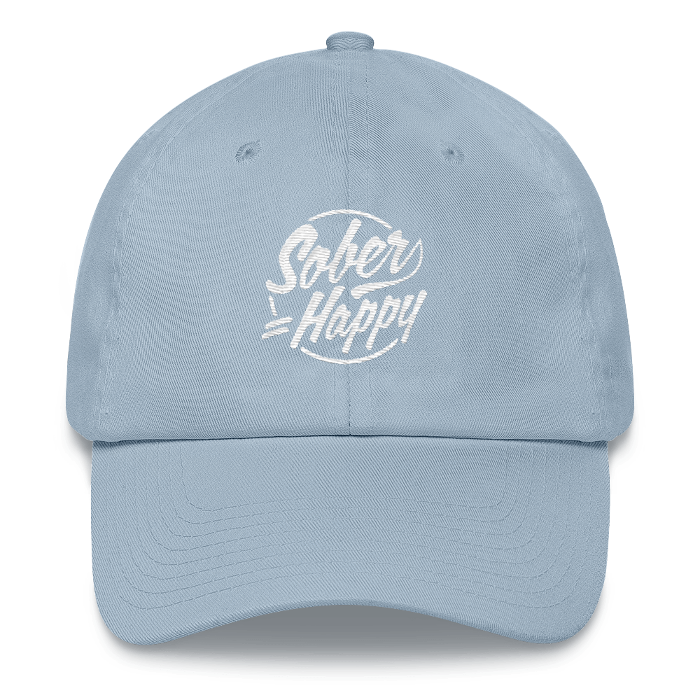 Sober Equals Happy Hat - Light Blue