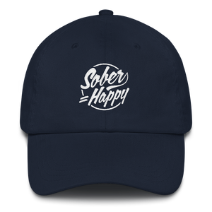 Sober Equals Happy Hat - Navy