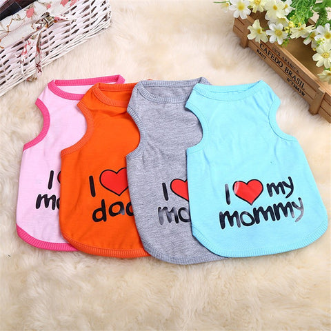 Adorable I Love My Mommy Pet T-Shirt