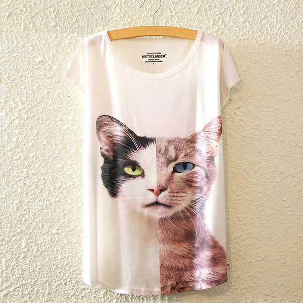 Fancy Watercolor Cat T-Shirts