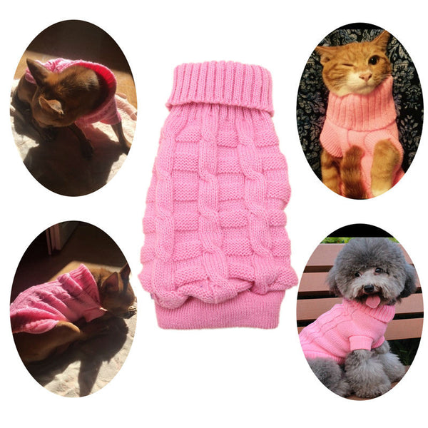 9 Colors Pet Winter Warm Knitted Sweater