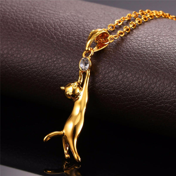 Cat Necklace Gold/Silver Plated Jewelry