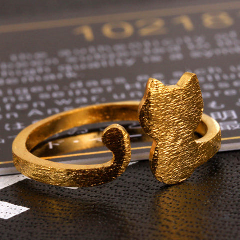 Adjustable Cat Ring Lovely Cat Rings For Ladies