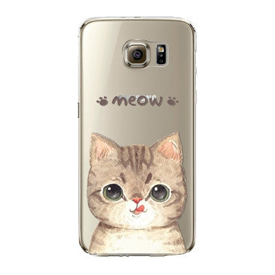 Brown Cute Cat Phone Case for Samsung