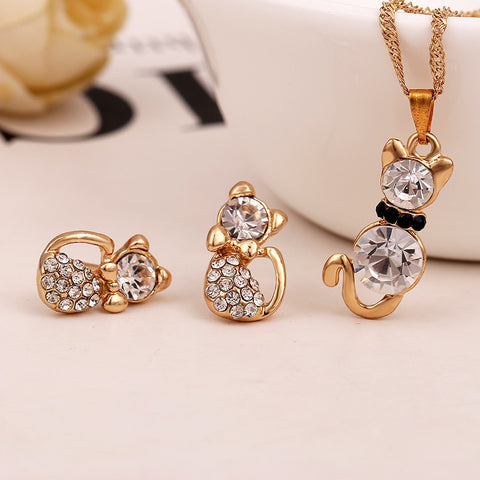 Cat Crystal Gemstones Set
