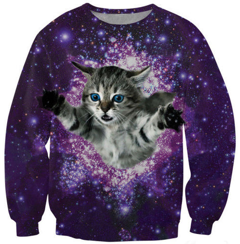 Cat Galaxy 3D Sweater