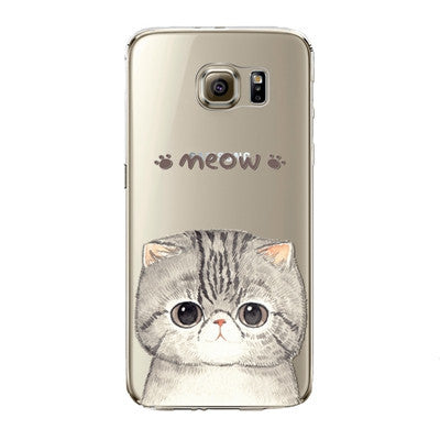 Cat Says Meow Phone Case for Samsung