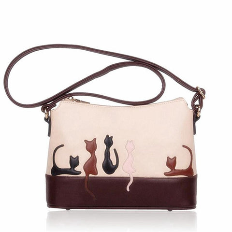 Cat Silhouette Shoulder Bag