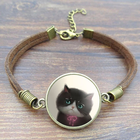 Crazy And Sweet Cats Charm Bracelet